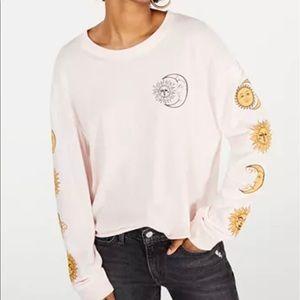 Rebellious One Juniors' Cotton Moon GraphicT-Shirt